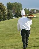 chef at golf course