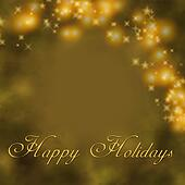 Gold Holiday Greet