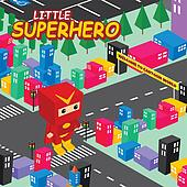 cartoon superhero isometric theme