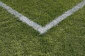 Corner boundary lines of a sports field