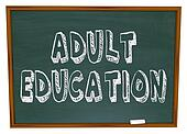 Adult Education - Chalkboard
