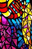 Colorful stained glass abstract.