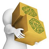 We Deliver Boxes Show Transportation And Delivery Service