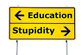 education and stupidity
