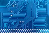 High tech circuit board industrial background
