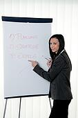 Coach flip chart in German. Training and education