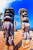 Tikis at Place of Refiuge in Kona Hawaii