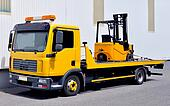Transportation of a forklift truck