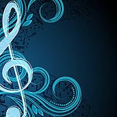 Notes musical vector background