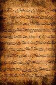 Old music paper
