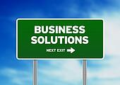 Business Solutions Highway Sign