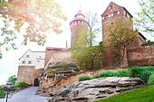 Beautiful Kaiserburg view of inner yard, Nuremberg