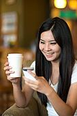 asian woman lifestyle with coffee
