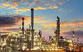Oil and gas industry - refinery at twilight