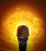 Hot Music Microphone Burning
