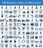 100 Business, Web, and Office Icons
