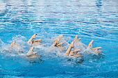 synchronized swimmers