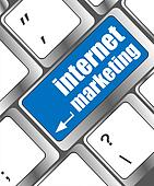 online marketing or internet marketing concepts, with message on enter key of keyboard key